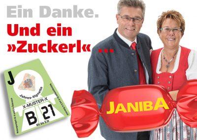 Das Janiba-Zuckerl: Gratis-Vignette oder € 92,50 in bar – ab 1.000,- Auftragswert