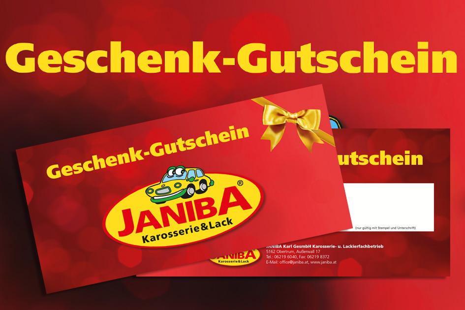 Janiba-Geschenk-Gutscheine bringen immer Freude