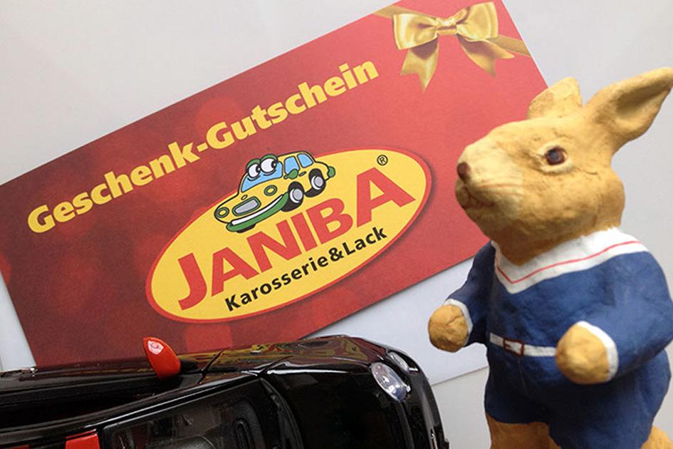 Janiba-Geschenk-Gutscheine für alle Anlässe