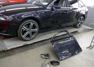 Unfallschaden-Instandsetzung. Audi A4 – Schaden behoben.